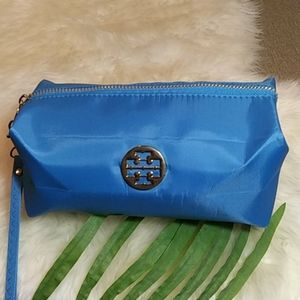 Tory Burch Nylon wristlet or cosmetic bag